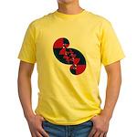 Fibonacci Red White Blue II Yellow T-Shirt
