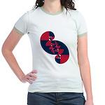 Fibonacci Red White Blue II Jr. Ringer T-Shirt