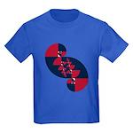 Fibonacci Red White Blue II Kids Dark T-Shirt