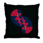 Fibonacci Red White Blue II Throw Pillow