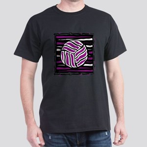 VOLLEYBALL {18} : purple Dark T-Shirt
