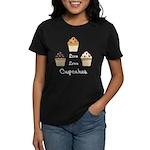 Live Love Cupcakes Women's Dark T-Shirt