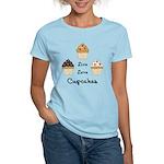 Live Love Cupcakes Women's Light T-Shirt