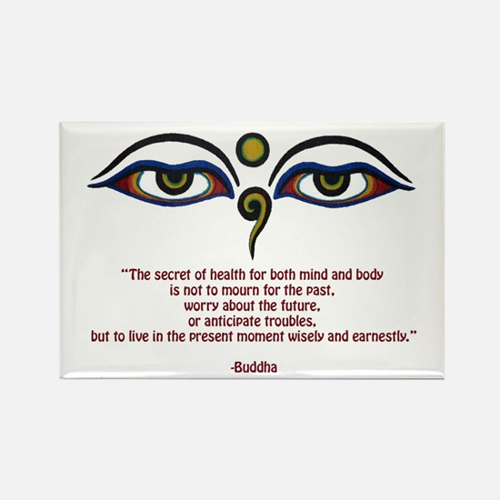 Buddha Quote: The Secret... Rectangle Magnet