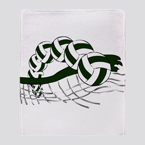 VOLLEYBALL {19} : green Throw Blanket