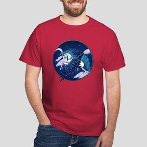 Winged Unicorn Circle Dark T-Shirt
