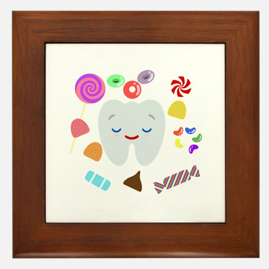 Cute Sweet tooth Framed Tile