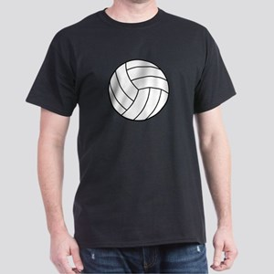 VOLLEYBALL {22} : white Dark T-Shirt