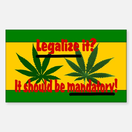 Legalize Marijuana Sticker (Rectangle)