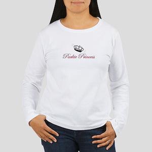 Women's Long Sleeve Parkie Princess T-Shirt; white