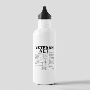 Veteran Vet Female Stainless Water Bottle 1.0L