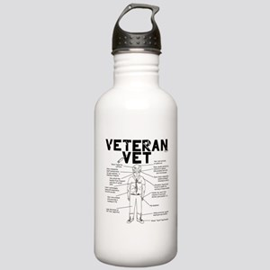 Veteran Vet Male Stainless Water Bottle 1.0L