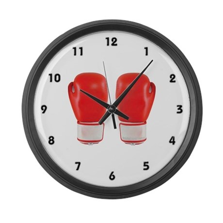 Red Boxing Gloves Large Wall Clock