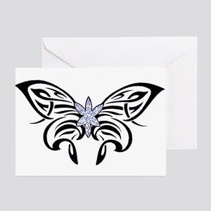 Tribal Crystal Butterfly Greeting Cards (Package o