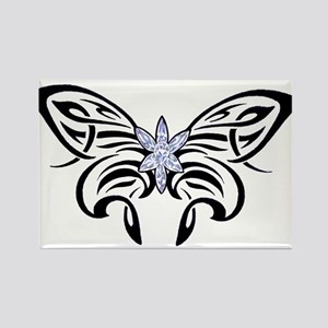 Tribal Crystal Butterfly Rectangle Magnet