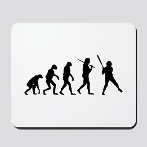 The Evolution Of The Softball Batter Mousepad