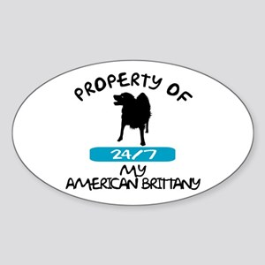 American Brittany Oval Sticker