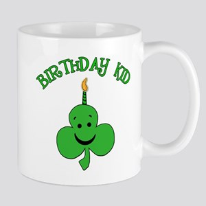 Birthday Kid with Happy Shamrock Mug