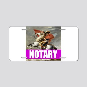 Notary Aluminum License Plate