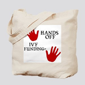 Hands Off IVF Funding Tote Bag