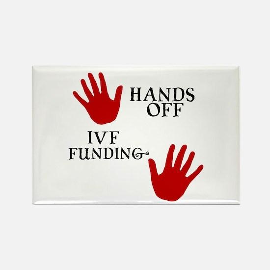 Hands Off IVF Funding Rectangle Magnet