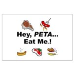 EAT AN ANIMAL FOR PETA Large Poster