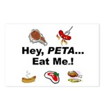 EAT AN ANIMAL FOR PETA Postcards (Package of 8)