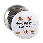 EAT AN ANIMAL FOR PETA Button