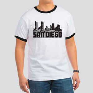 San Diego Skyline Ringer T