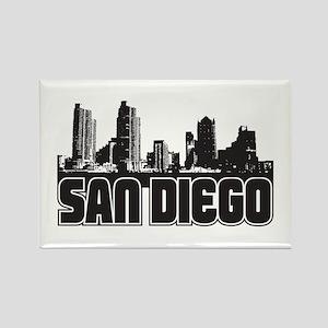 San Diego Skyline Rectangle Magnet