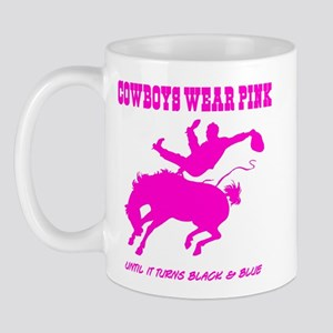 """Tough Guys Wear Pink"" Ceramic Mug"