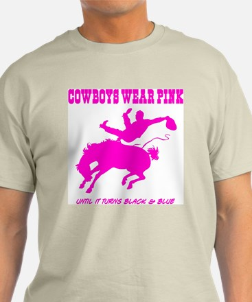 """Cowboys Wear Pink"" Ash Grey T-Shirt"
