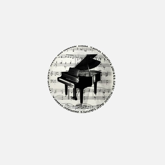 Cute Pianist Mini Button