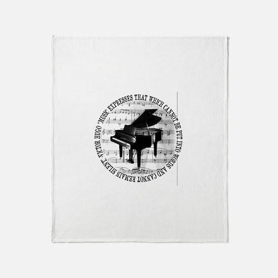 Unique Sheet music Throw Blanket