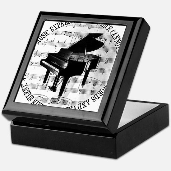 Cute Pianist Keepsake Box