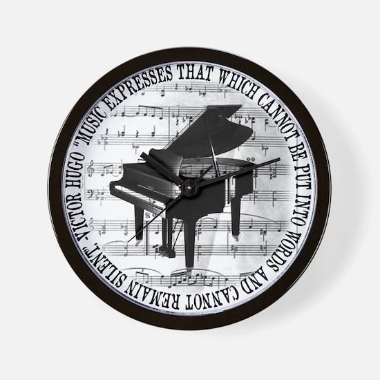Unique Piano Wall Clock