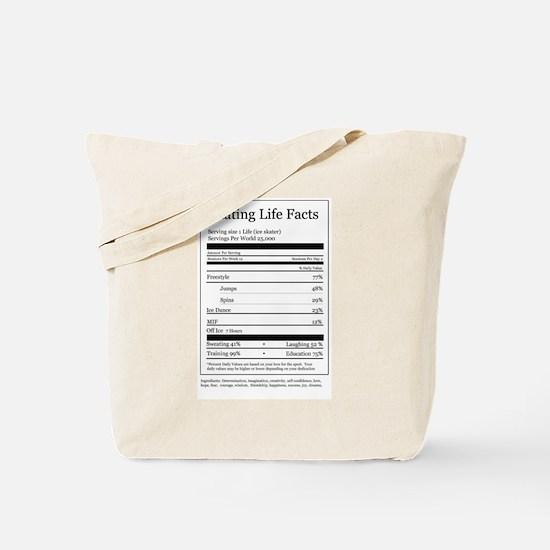 Skating Life Facts Tote Bag