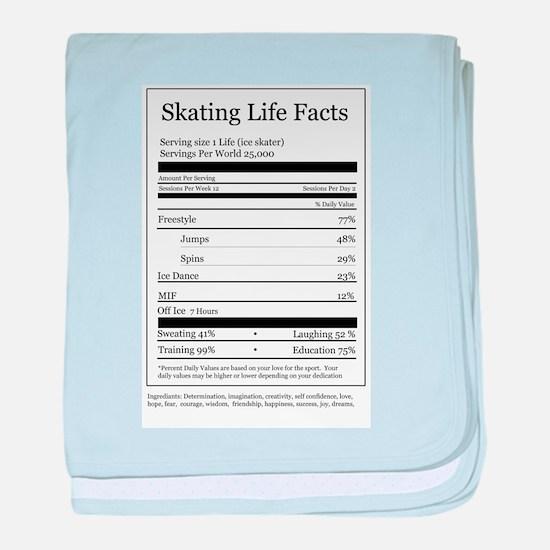 Skating Life Facts baby blanket