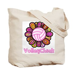 Groovy VolleyChick Tote Bag