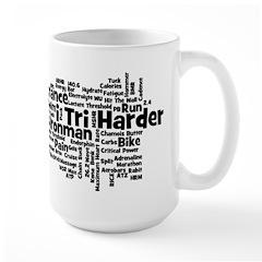 Ironman Triathlon Jargon Large Mug