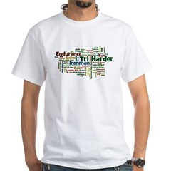 Ironman Triathlon Jargon White T-Shirt