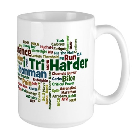 Ironman Triathlon Jargon Large Mug