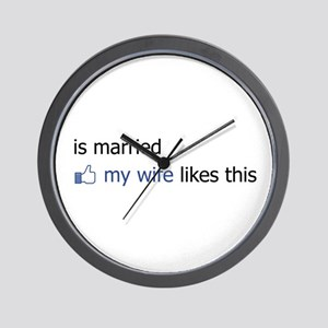 FB Status Married Wall Clock