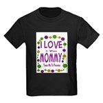 Mommy Takes Me To Parades Kids Dark T-Shirt