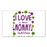 Mommy Takes Me To Parades Sticker (Rectangle)
