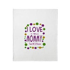 Mommy Takes Me To Parades Throw Blanket
