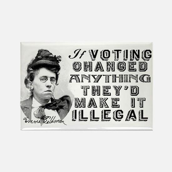 Emma Goldman Voting Rectangle Magnet