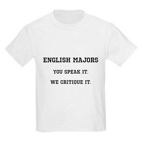 You Speak, We Critique Kids Light T-Shirt