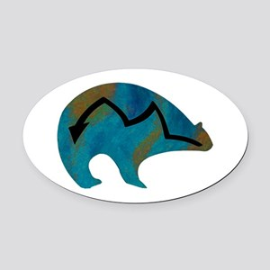 SOUL TO ONE Oval Car Magnet