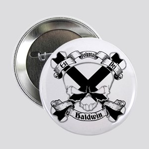 "Baldwin Family Crest Skull 2.25"" Button"